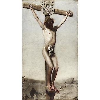 Crucify, Thomas Eakins, 60x34cm