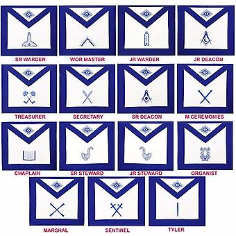 Masonic Blue Lodge Officers Aprons-Lambskin-Organist