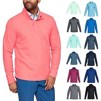 Under Armour Men Sweaterfleece Snap Mock Storm Water Repellent Sweater