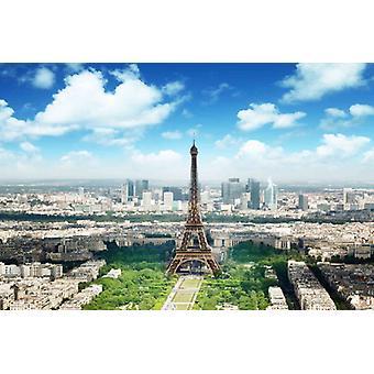 Tapet väggmålning Eiffeltornet