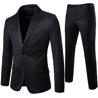Allthemen Herren Anzug 2-Pieces Anzug Slim Fit Two-Buttons Blazer&Pants