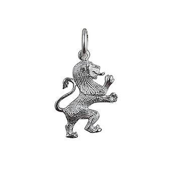 Silver 19x15mm Rampant Lion Pendant or Charm