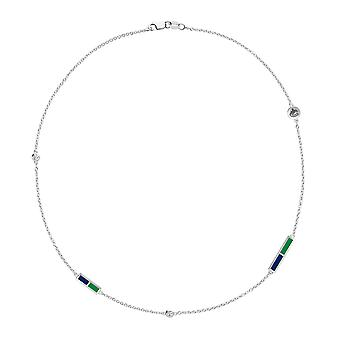 Vancouver Canucks Diamond Chain Necklace In Sterling Silver Design by BIXLER