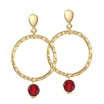 Eternal Collection infinito kultaa ja punainen kristalli Drop Hoop Clip korva korut