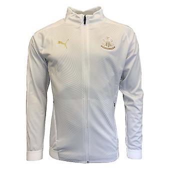 2019-2020 Newcastle Puma Stadium Jacket (White)