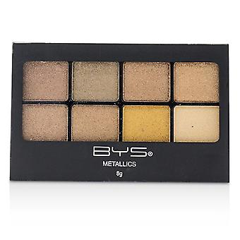 BYS 8 Palette Metallic Eyeshadow - # Metallics Browns 8g/0.27oz