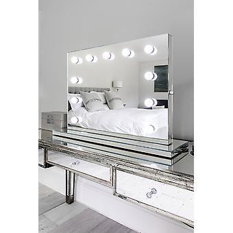 Venetianske lyd speil Finish Hollywood (Medium) dagslys k256CWaud
