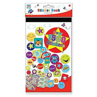 Kids Create Set of 1500 Assorted Design Stickers Note Book Activity Sheets