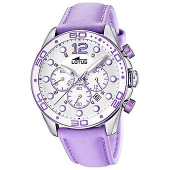 Lotus Multifunction Quartz Analog Women Watch with Synthetic Leather Bracelet 15782/2