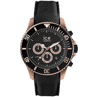 Ice Steel Quartz analoge man horloge met siliconen armband IC016305