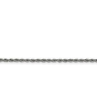 In acciaio inox lucido collana catena della corda di fantasia astice chiusura 2,3 mm - Lunghezza: 16 a 30