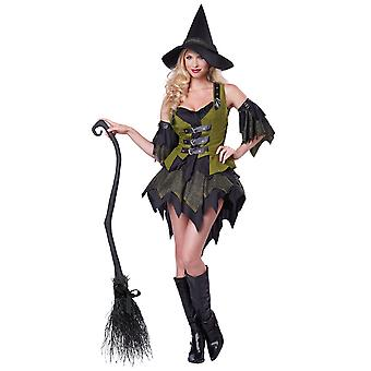 Bewitching babe Wicked Witch Sorceress Enchantress Halloween Womens kostym