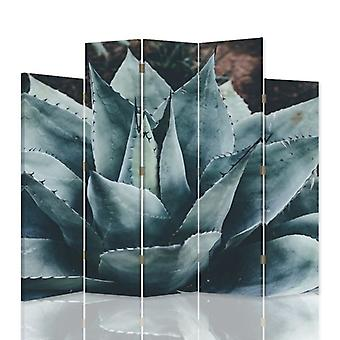 Divisor de habitación decorativa, 5 paneles, lienzo, agave 3