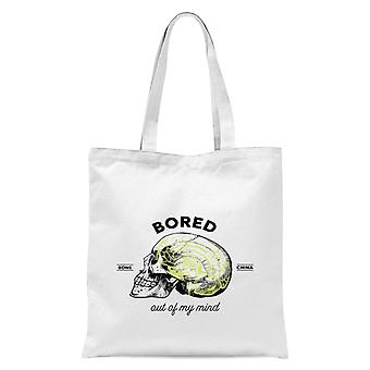 Bored Out Of My Mind Tote Bag - White