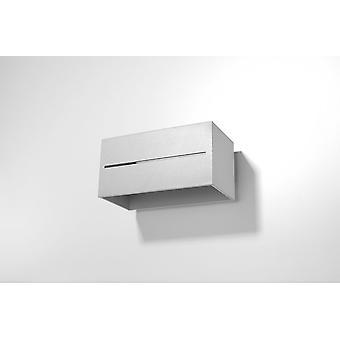 Sollux LOBO MAXI 2 Light Up Down Flush Wall Light Grey SL.0529