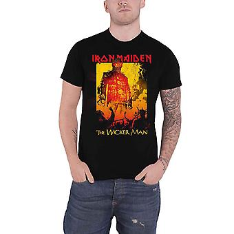 Iron Maiden T Shirt The Wicker Man Fire Band Logo new Official Mens Black