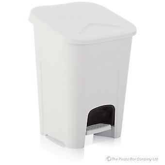 Wham Lagerung große 16 Liter weiß Kunststoff Pedal Behälter