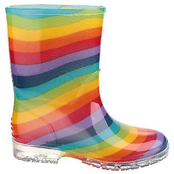 Cotswold PVC lapset Rainbow Welly / tyttöjen saappaat