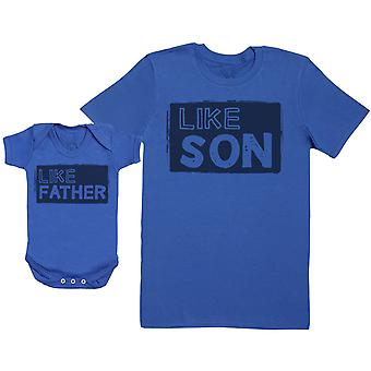Like Son with Like Father - Baby Gift Set with Baby Bodysuit & Father's T-Shirt