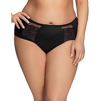 Gorsenia K442 Women's Luisse Black Lace Knickers Panty Full Brief