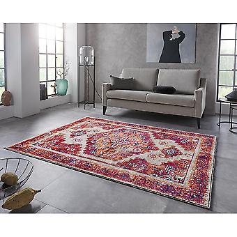 Oriental Design Short Flor Rug Daber Raspberry Red