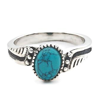 Ring Silver 925 Sterling Silver Turquoise Blue Green Stone (Nr: MRI 142)