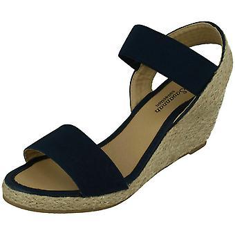 Dames Savannah hoge touw wig sandalen F10865