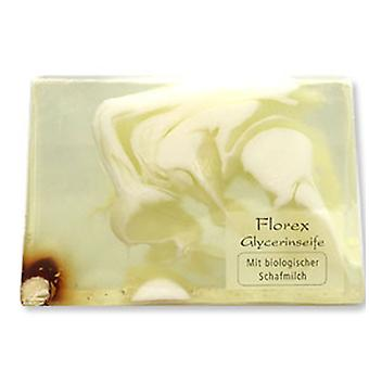 Florex handmade glycerin soap - almond oil - with organic sheep's milk in dry and sensitive skin 90 g