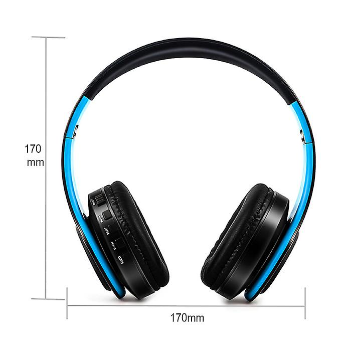 ZAPET Wireless Headphones Bluetooth Wireless Headphones Stereo Gaming Blue-White