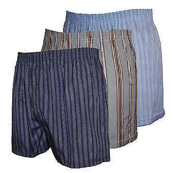 Mens WOVEN Printed Poly Cotton boxer shorts 12 PK