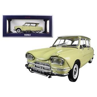 1964 Citroen Ami 6 Naples Jaune 1/18 Diecast Model Car par Norev