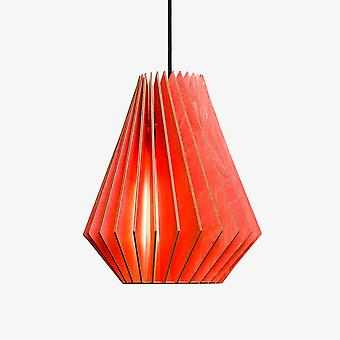 Iumi Hektor Cone Shaped Birch Plywood Pendant - Red