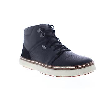 Geox U Mattias ABX Mens Zwart Leer High Top Sneakers Schoenen