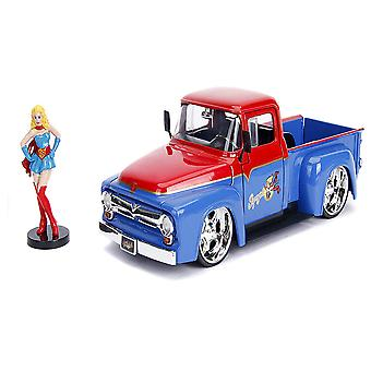 DC Supergirl 1956 Ford F100 1:24 Hollywood Rides Diecast Veh
