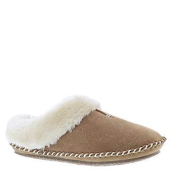 Minnetonka Womens Cailee Leather Closed Toe Slip On Slippers, Cinnamon, Size 6.0