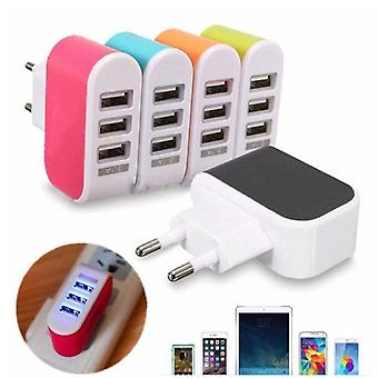 Stuff Certified® 5-Pack Triple (3x) USB Port iPhone / Android Wall Charger AC Home Wall Charger