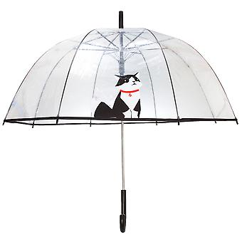 X-Brella Unisex Adults 23in Transparent Cat Stick Umbrella