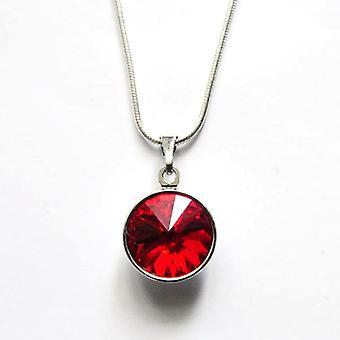 Naszyjnik z czerwony kryształ PMB 2.5