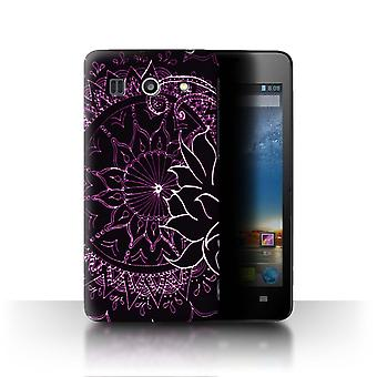 STUFF4 Case/Cover for Huawei G520/Black/Purple/Henna Paisley Flower