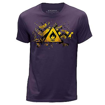 STUFF4 Hommes rond Neck T-shirt-T-Shirt/Splat/danger/feu/Purple
