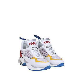 Karl Lagerfeld Kl6173741m Baskets en cuir blanc
