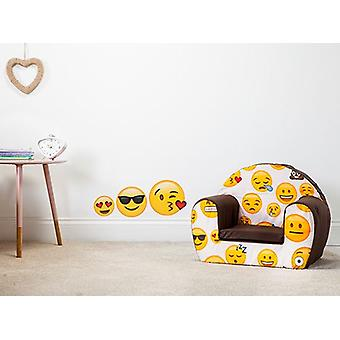 Ready Steady Bed Emoji Girl Design Children's Foam Armchair Seat
