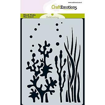 CraftEmotions Mask stencil ocean - plants A6 A6