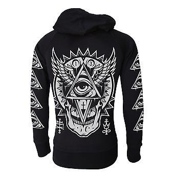 Darkside - all seeing eye - mens lightweight hoodie - black