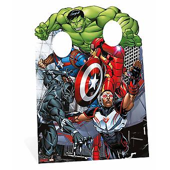 The Avengers Assemble Captain America and Iron Man Child Size Cardboard Cutout Stand-in
