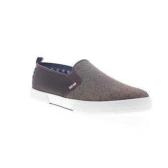 Ben Sherman Bradford Slip On  Mens Brown Canvas Sneakers Shoes