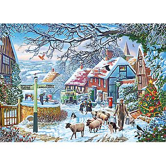 Gibsons 1000 Piece A Winter Stroll Jogsaw Puzzle