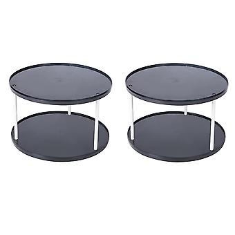Environmental protection PP round tabletop rotatable storage rack