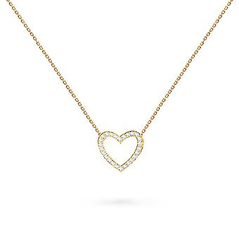 Baby Necklace Precious Heart, 18K Or et Diamants - Or Jaune