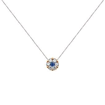 Collier duchesse Full Diamond on Sapphire and 18K Gold, On Thread - Rose Gold, White